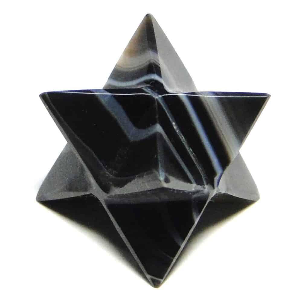 Black Onyx Merkaba Stars