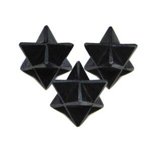 Black Tourmaline Merkaba Stars