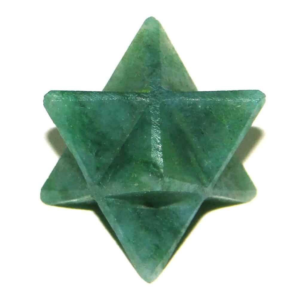 Green Aventurine Merkaba Stars