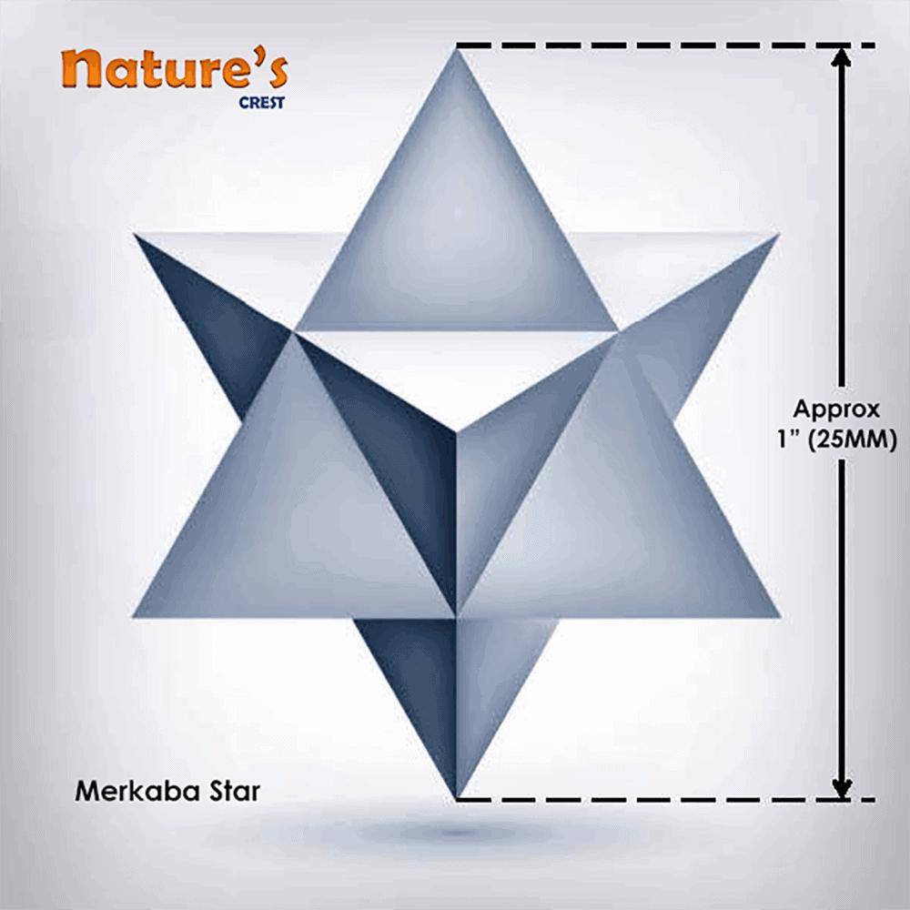 Merkaba Star Vector 1 Inch
