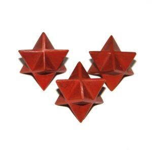 Red Jasper Merkaba Stars