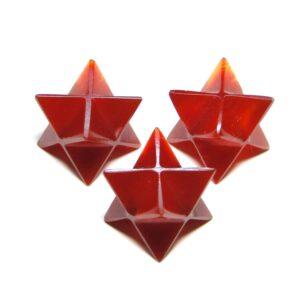 Red Onyx Merkaba Stars