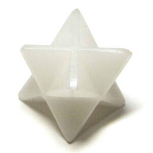 White Aventurine Merkaba Stars