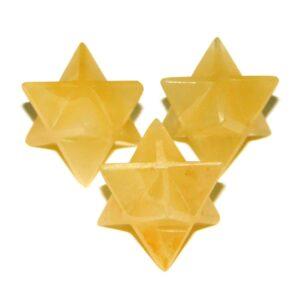 Yellow Aventurine Merkaba Stars