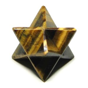 Yellow Tiger Eye Merkaba Stars