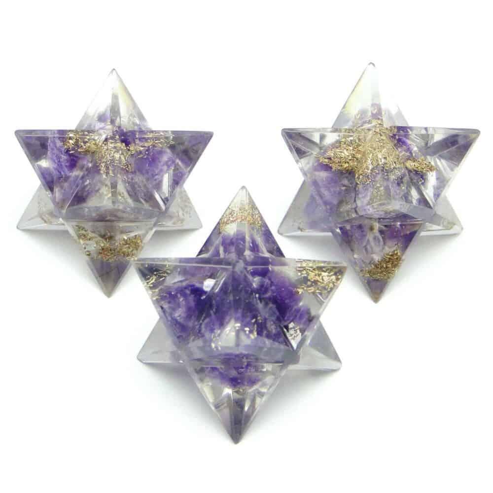 Amethyst Orgone 8 Point Merkaba Star Nature's Crest OMS001 ₹249.00