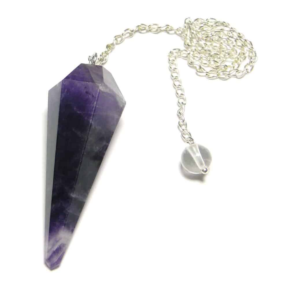 Amethyst Faceted Dowsing Pendulum Nature's Crest PD003 ₹ 249.00
