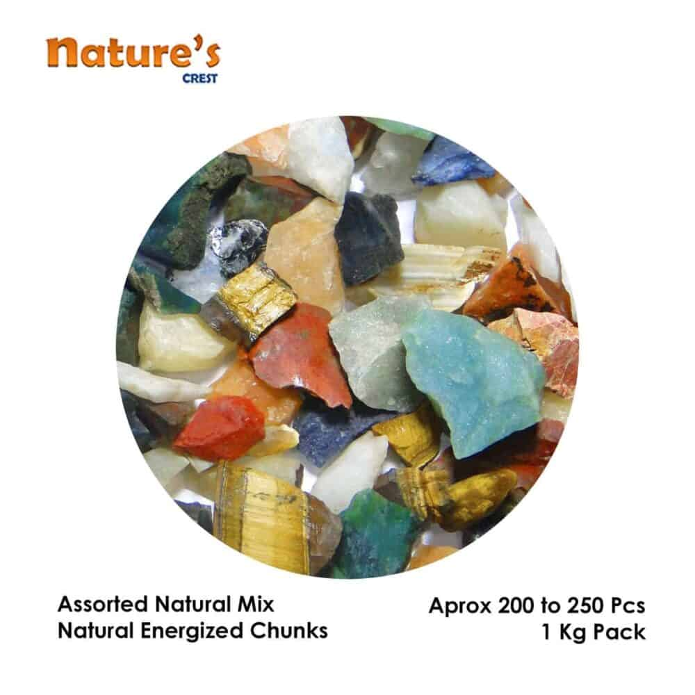 Assorted Mix Natural Raw Rough Chunks Nature's Crest RC025 ₹ 199.00