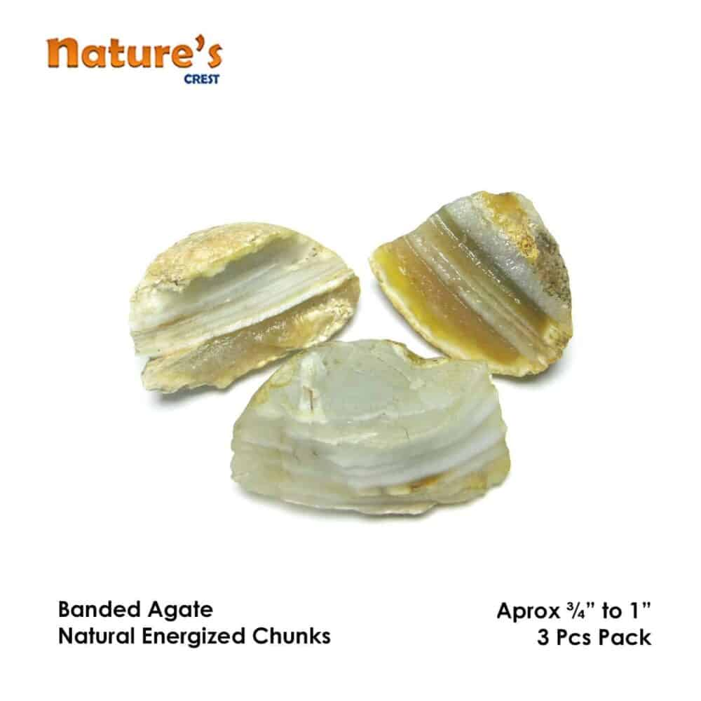 Banded Agate Natural Raw Rough Chunks Nature's Crest RC017 ₹ 199.00