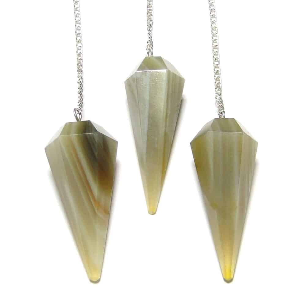 Banded Agate Faceted Dowsing Pendulum Nature's Crest PD004 ₹ 249.00