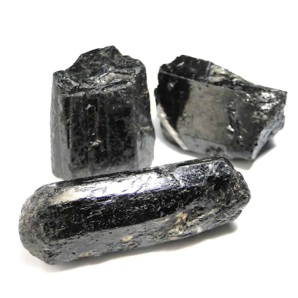 Black Tourmaline Natural Raw Rough Crystal Nature's Crest RC000 ₹ 249.00