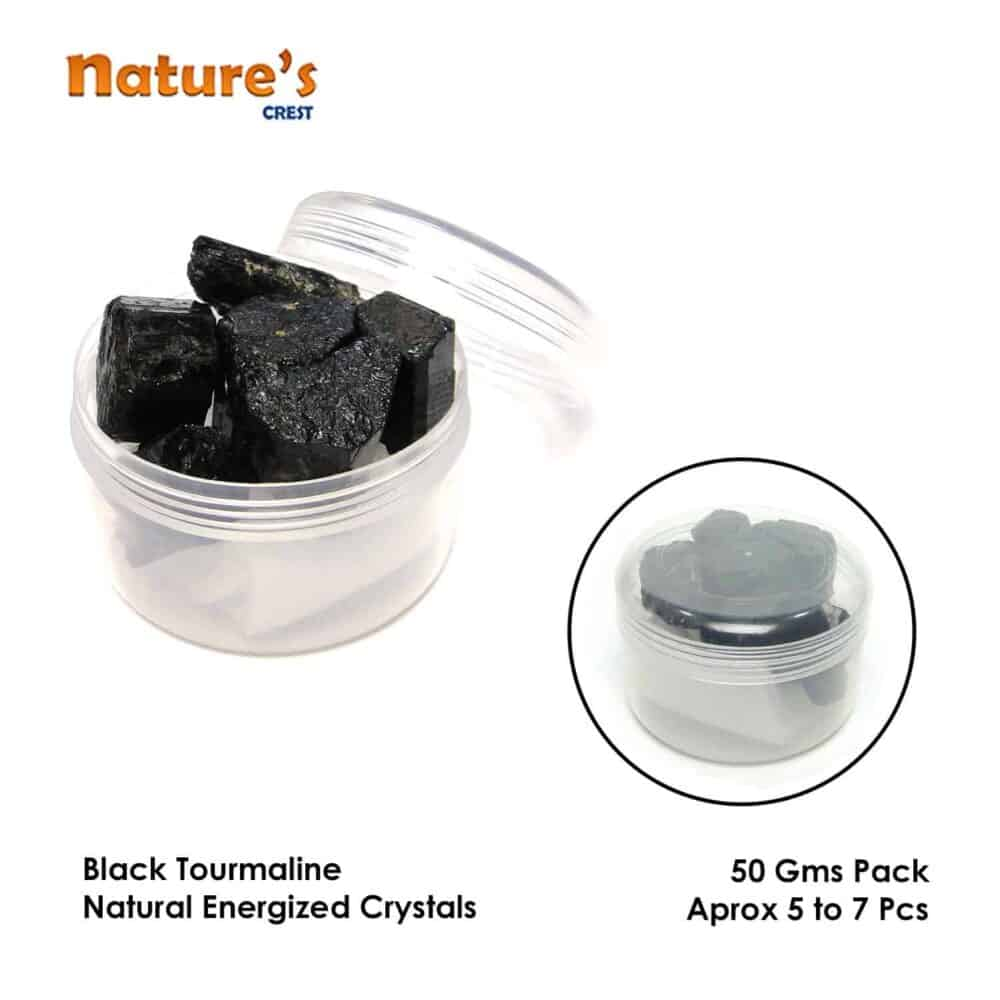 Black Tourmaline Natural Raw Rough Crystals Nature's Crest RC001 ₹ 349.00