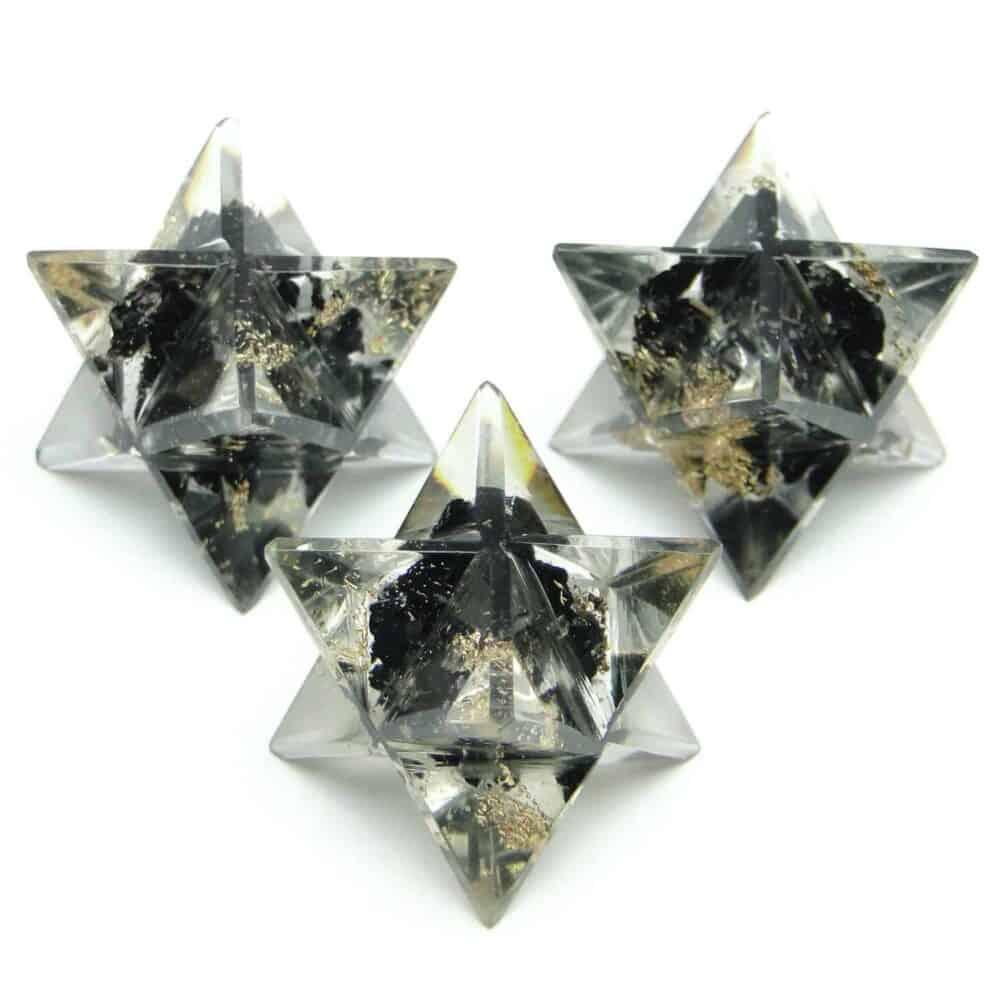 Black Tourmaline Orgone 8 Point Merkaba Star Nature's Crest OMS002 ₹249.00