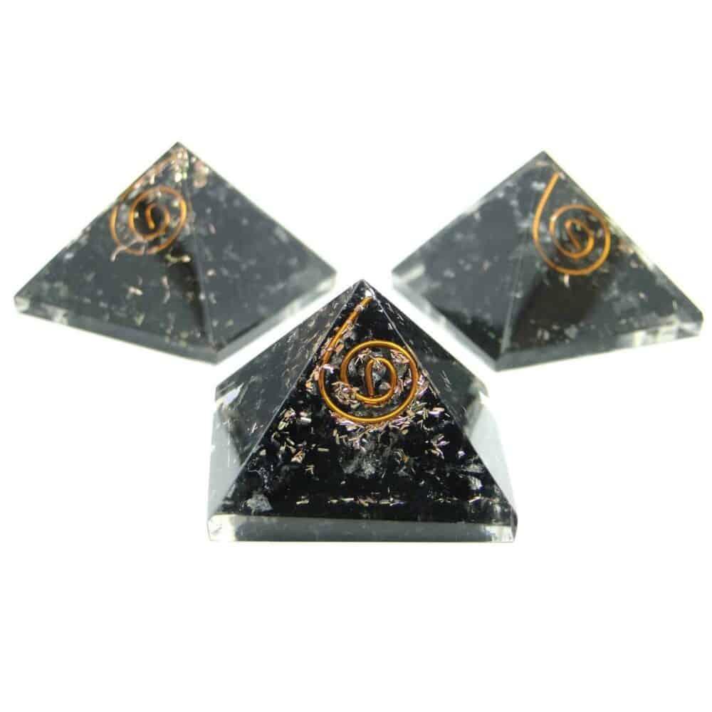 Black Tourmaline Orgone Pyramid Nature's Crest OPY002 ₹299.00