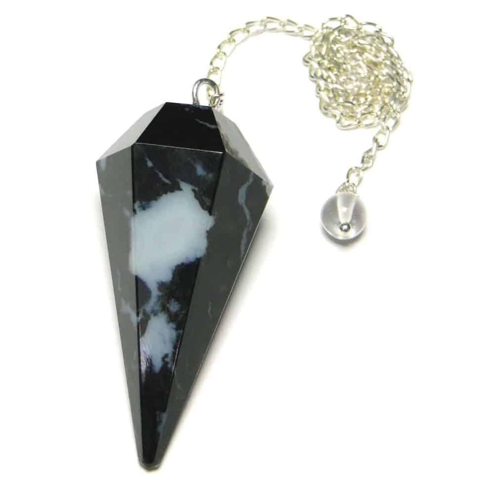 Black Zebra Sardonyx Faceted Dowsing Pendulum Nature's Crest PD007 ₹249.00