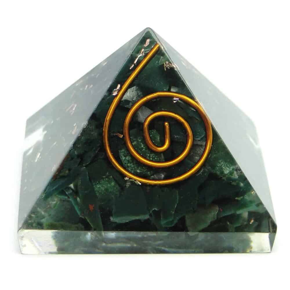 Blood Stone (Heliotrope) Orgone Pyramid Nature's Crest OPY003 ₹ 299.00