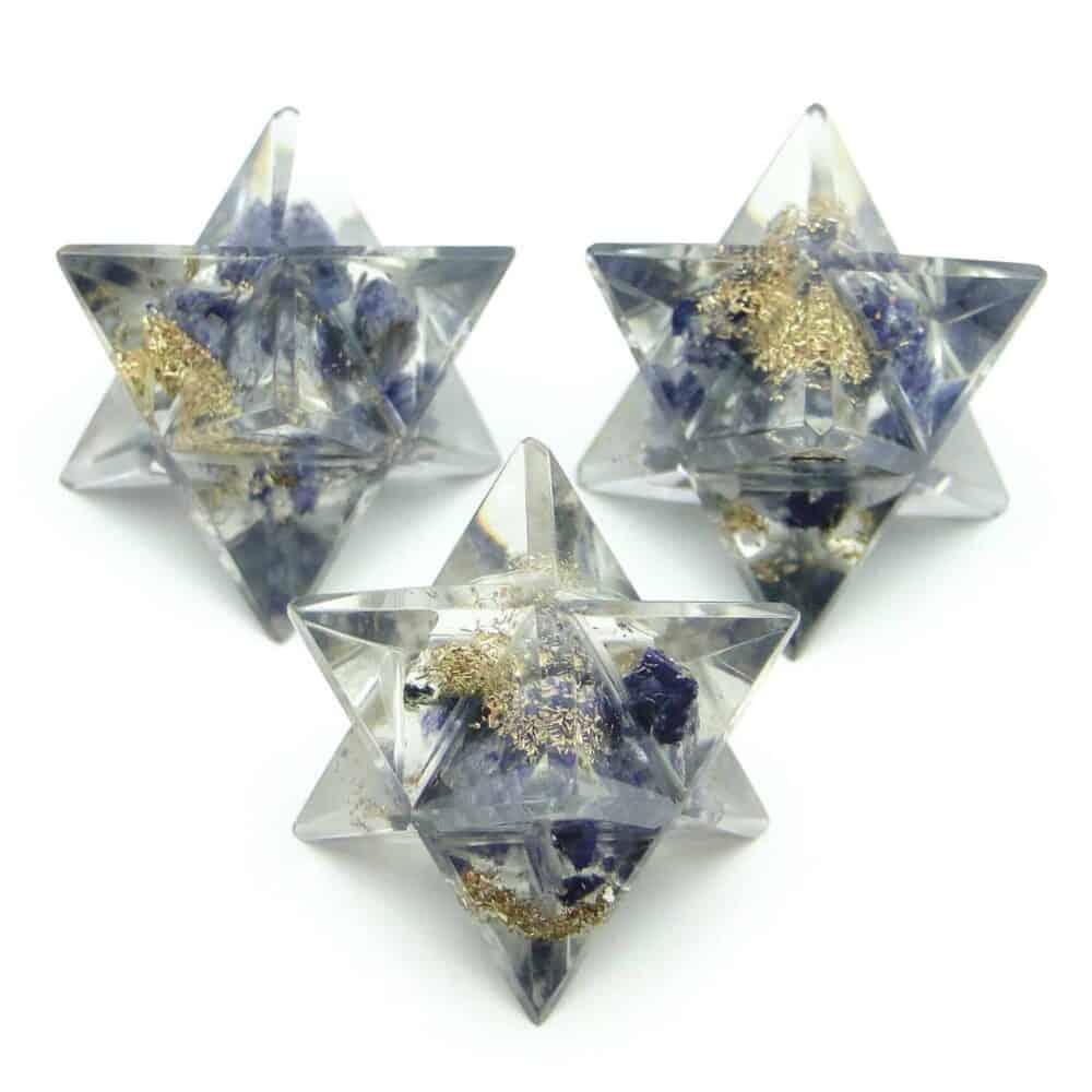 Blue Aventurine Orgone 8 Point Merkaba Star Nature's Crest OMS004 ₹249.00