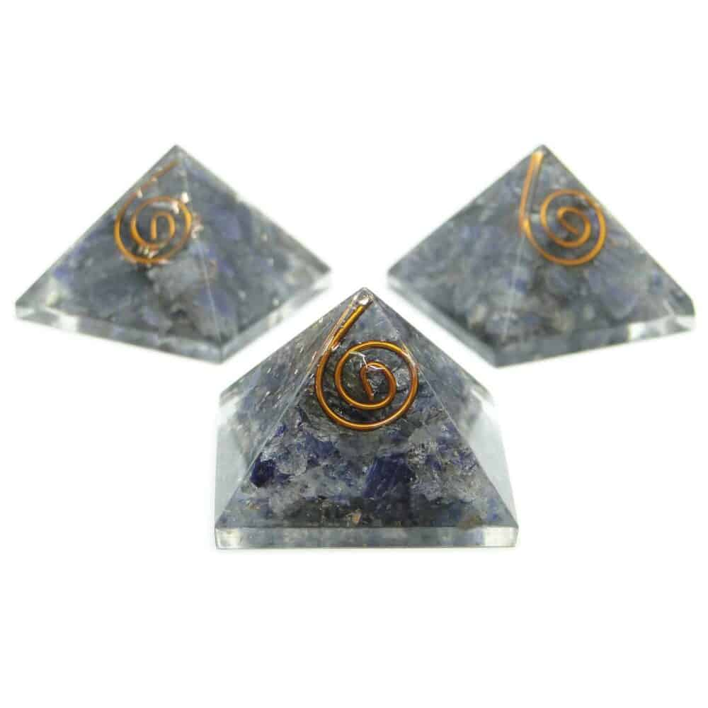 Blue Aventurine Orgone Pyramid Nature's Crest OPY004 ₹ 299.00