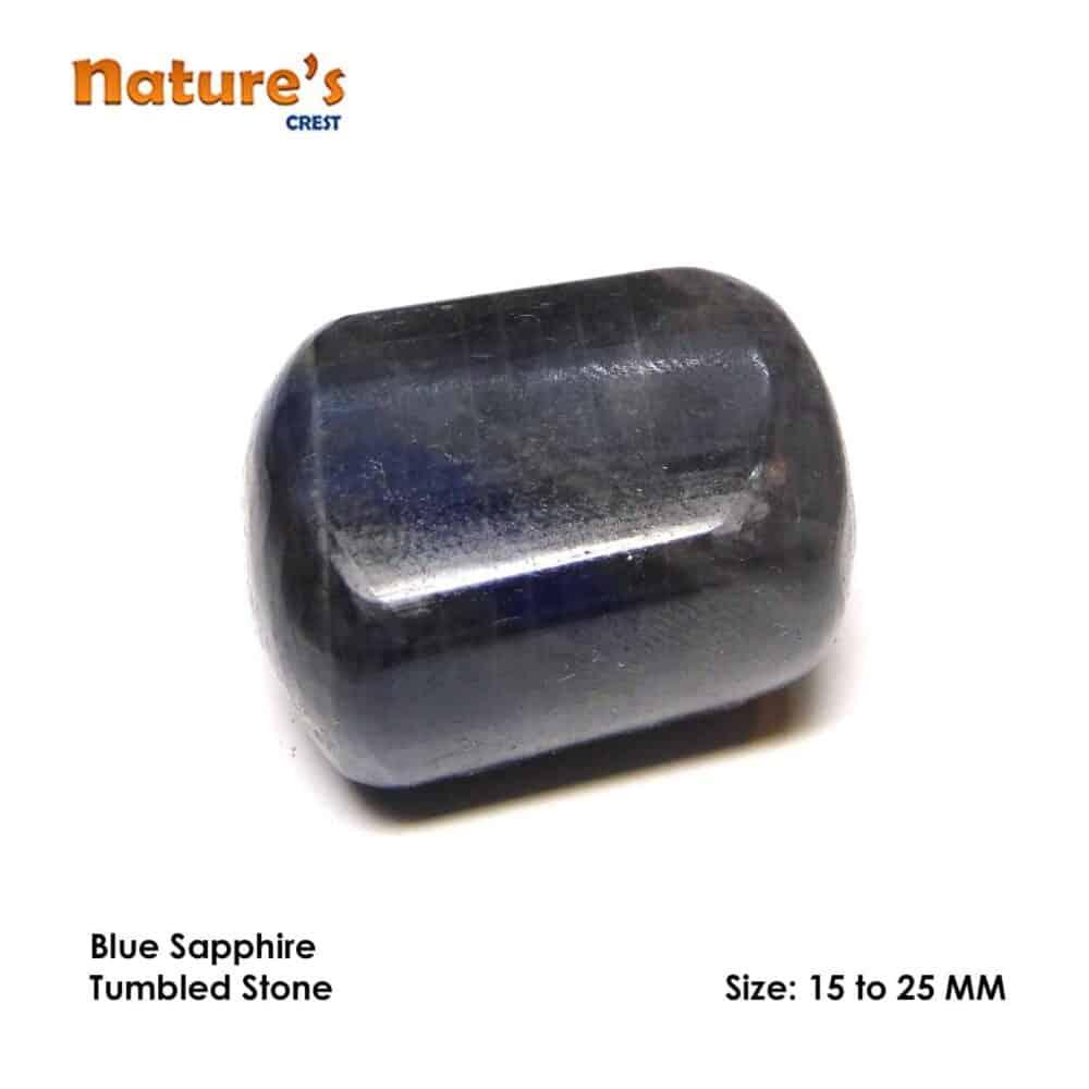 Blue Sapphire Tumbled Pebble Stones Nature's Crest TS003 ₹249.00