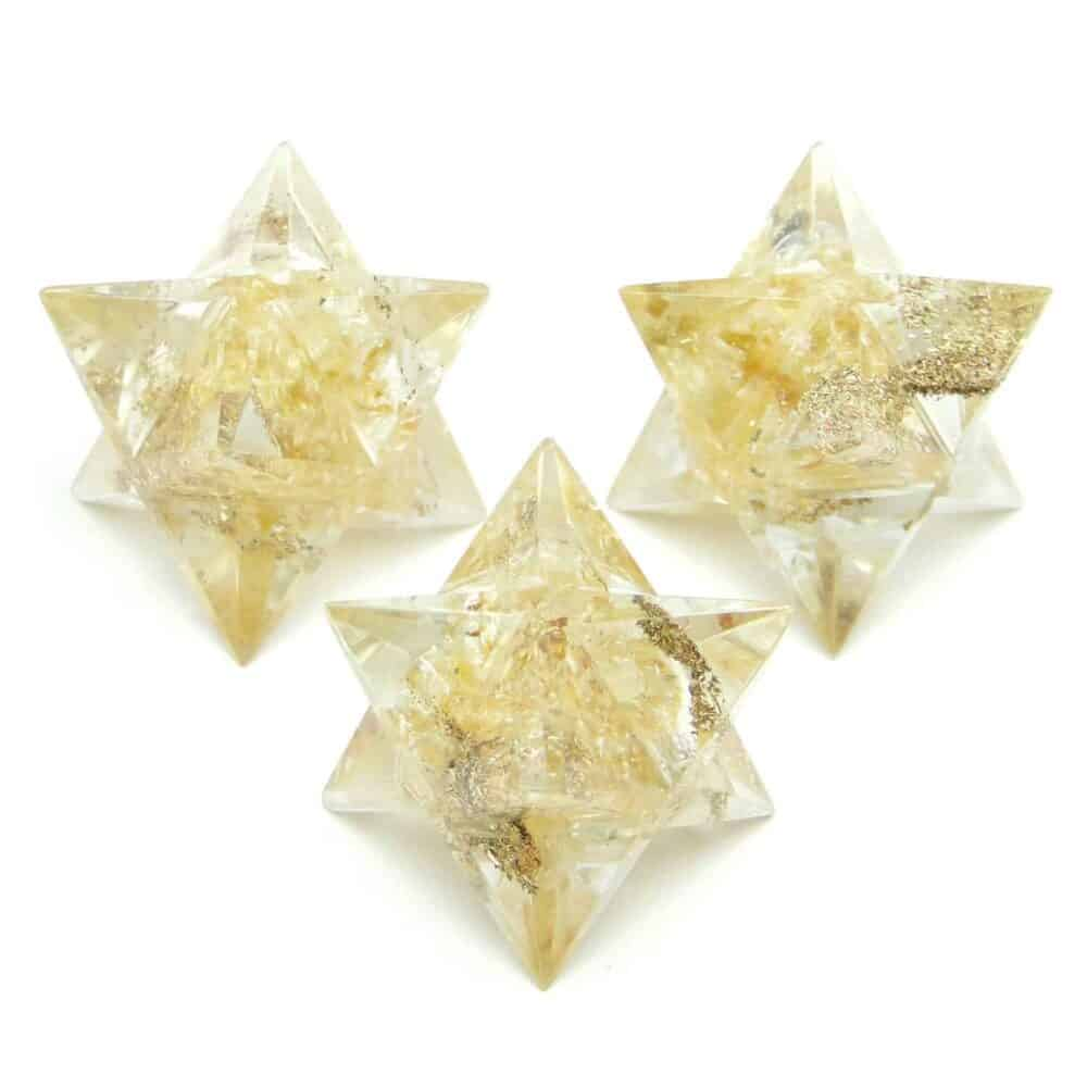 Citrine Orgone 8 Point Merkaba Star Nature's Crest OMS005 ₹ 249.00