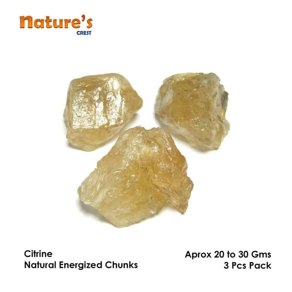 Citrine Natural Raw Rough Chunks Nature's Crest RC008 ₹ 0.00