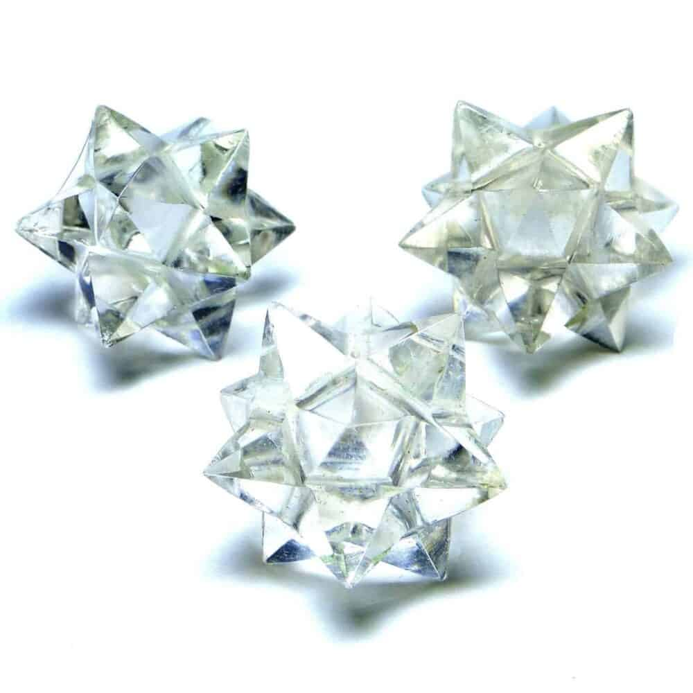 Crystal Quartz (Sphatik) 12 Point Merkaba Star Nature's Crest MS12001 ₹449.00