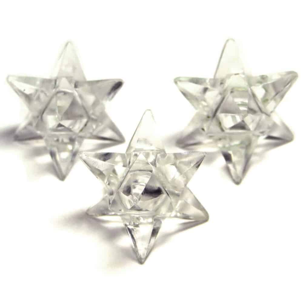 Crystal Quartz (Sphatik) 14 Point Merkaba Star Nature's Crest MS14001 ₹ 449.00