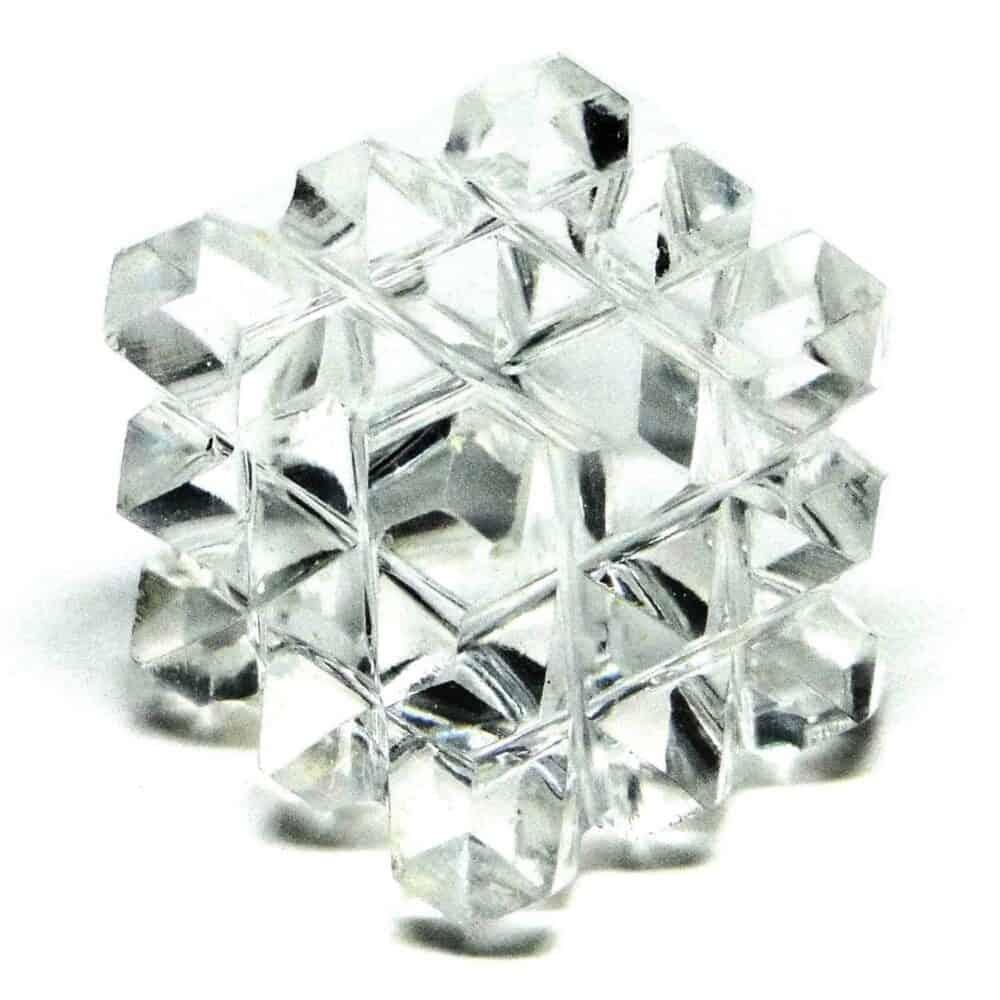 Crystal Quartz (Sphatik) 54 Pyramids Power Cube Nature's Crest PY54001 ₹799.00