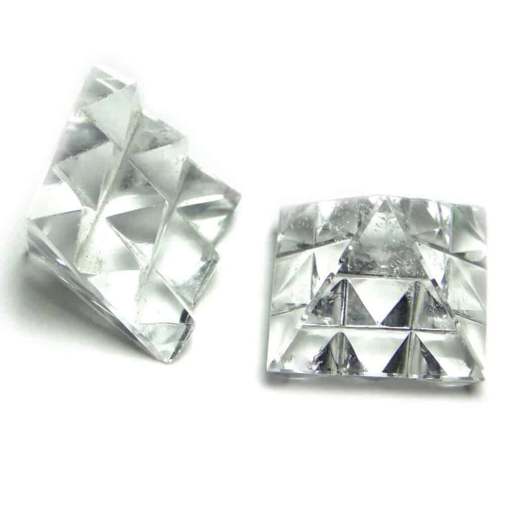 Crystal Quartz (Sphatik) Clear Lemurian 9 Pyramid Master Pyramid Nature's Crest PYMP002 ₹749.00