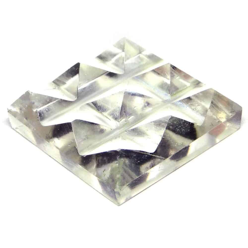 Crystal Quartz (Sphatik) 9 Pyramid Charging Plate Nature's Crest PY9001 ₹449.00