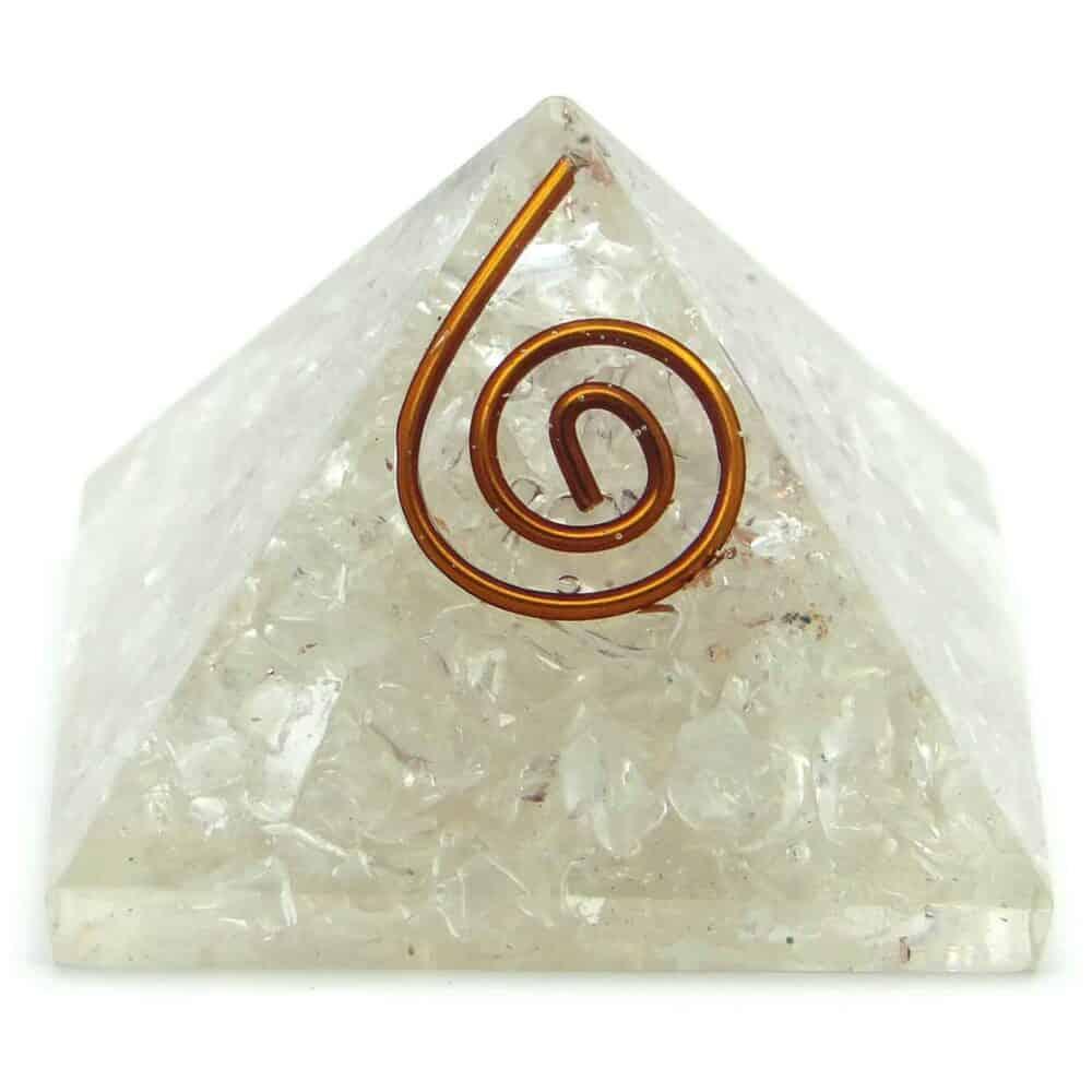 Crystal Quartz (Sphatik) Orgone Pyramid Nature's Crest OPY006 ₹299.00