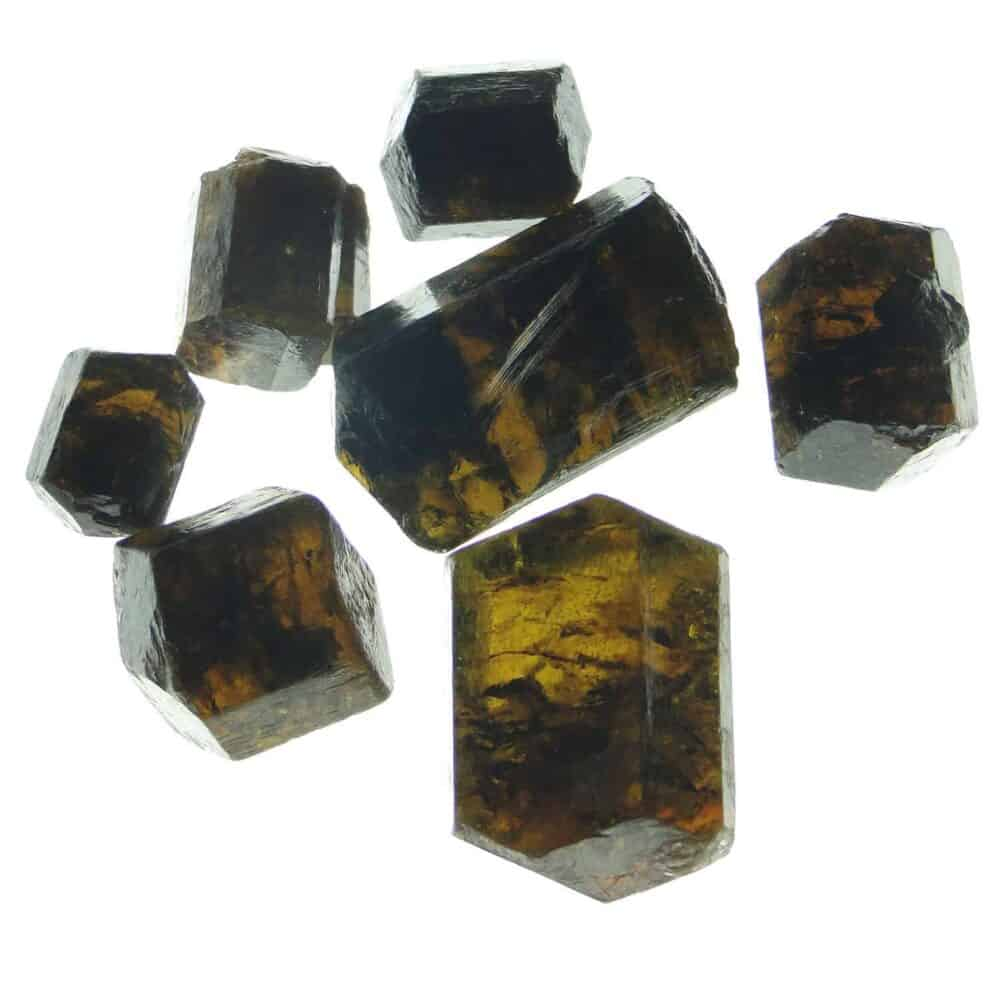 Brown Tourmaline (Dravite) Double Terminated Natural Raw Rough Crystals Nature's Crest RC013 ₹ 399.00