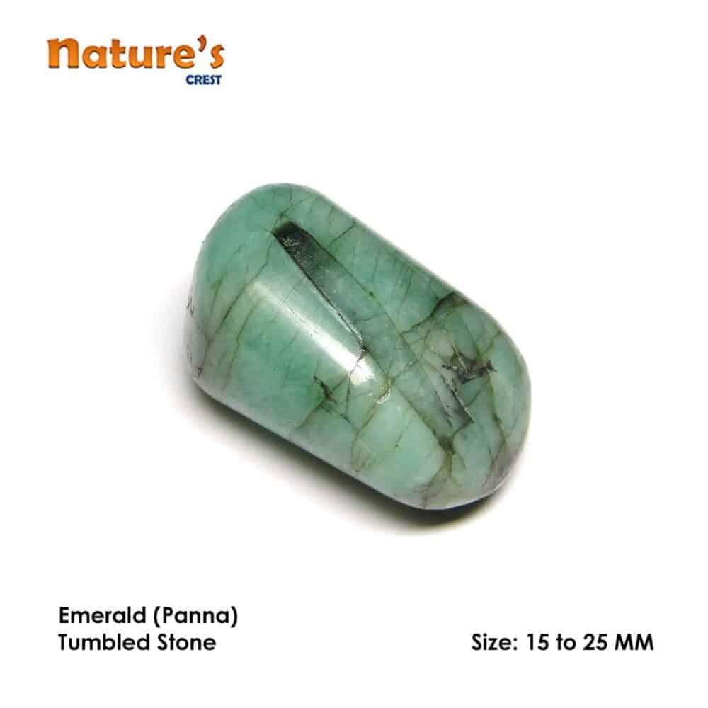 Emerald (Panna) Tumbled Pebble Stones Nature's Crest TS006 ₹299.00