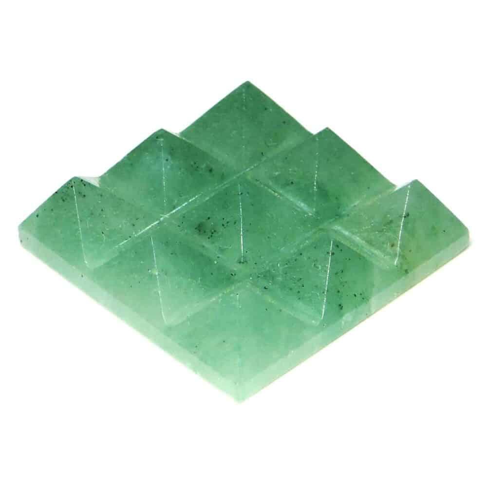 Green Aventurine Lemurian 9 Pyramid Charging Plate Nature's Crest PY9003 ₹449.00