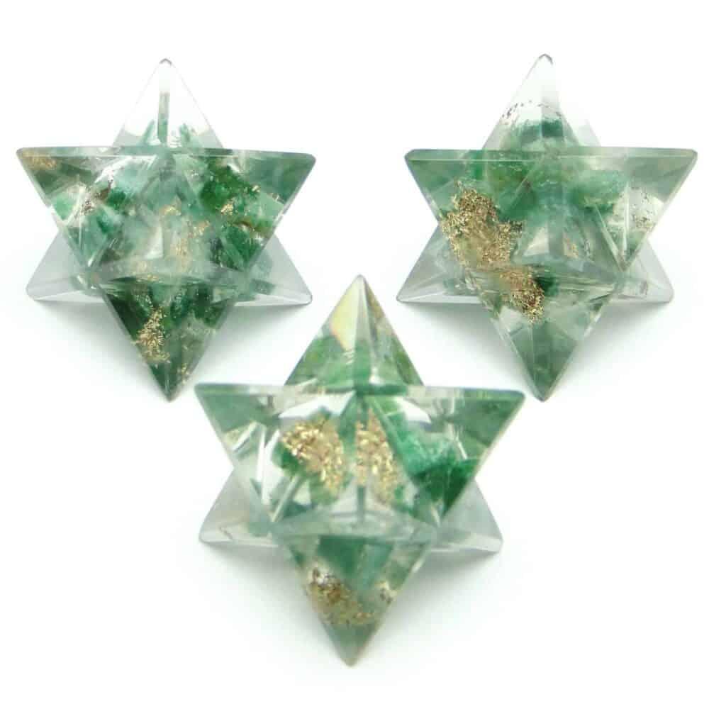 Green Aventurine Orgone 8 Point Merkaba Star Nature's Crest OMS007 ₹249.00
