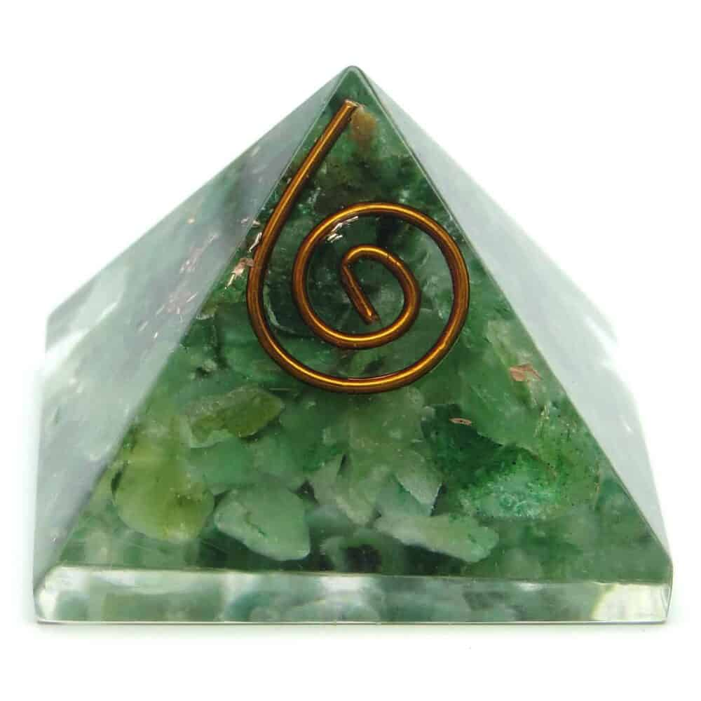 Green Aventurine Orgone Pyramid Nature's Crest OPY007 ₹ 299.00