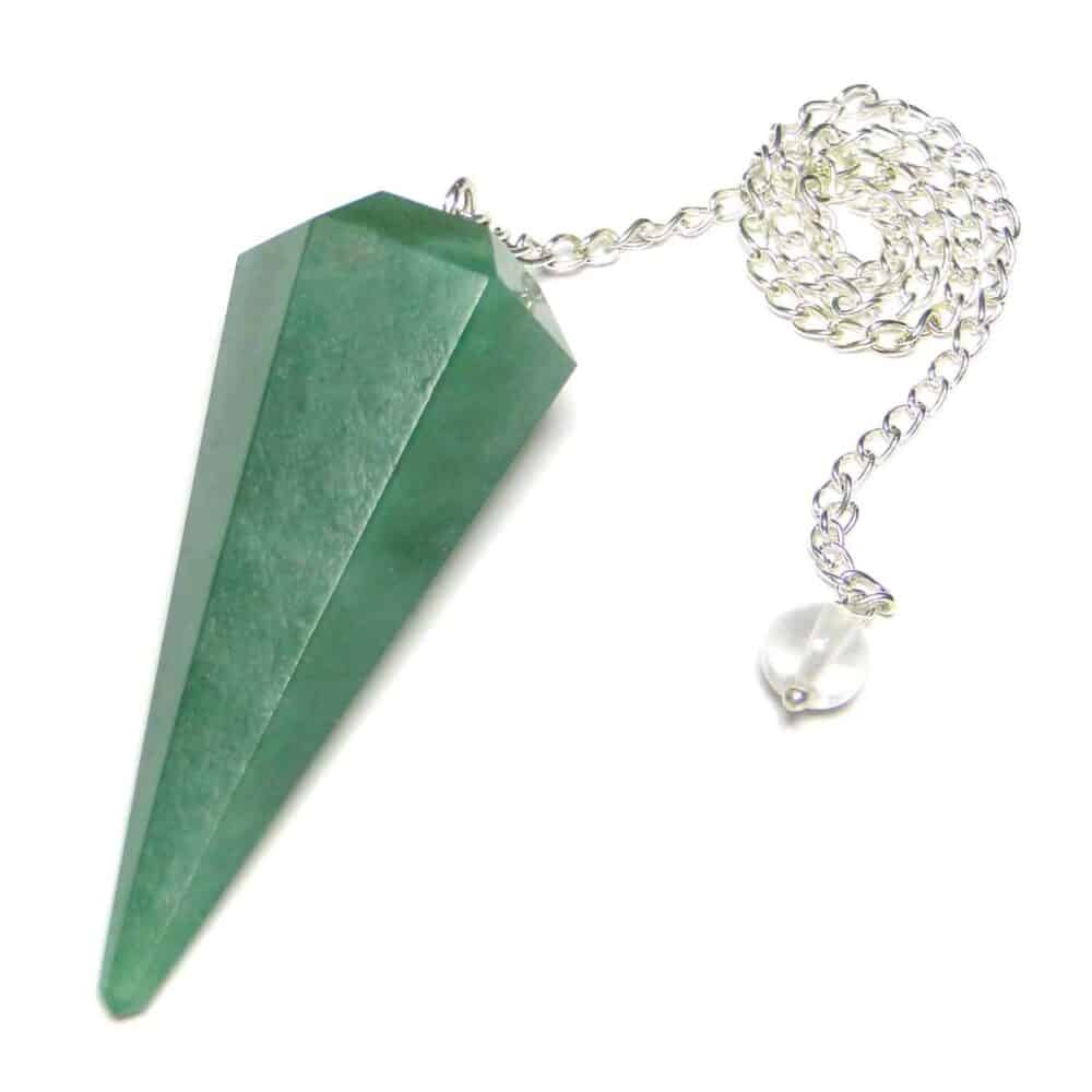 Green Aventurine Faceted Dowsing Pendulum Nature's Crest PD013 ₹ 249.00