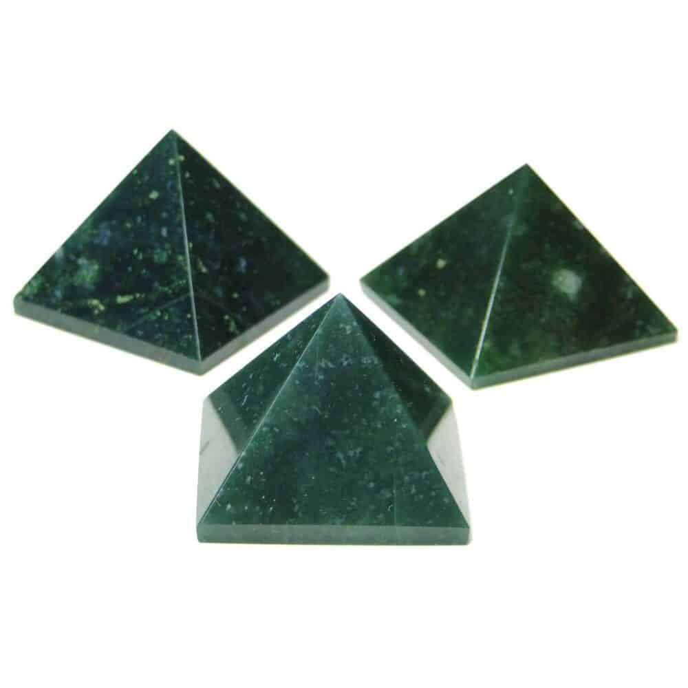 Green Moss Agate Pyramid Nature's Crest PY0008 ₹249.00