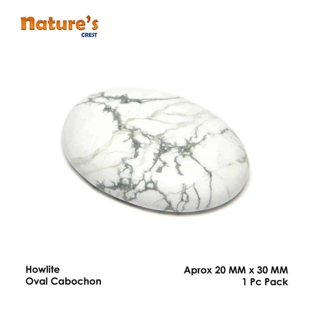 Howlite Oval Cabochon Nature's Crest CO0030 ₹349.00