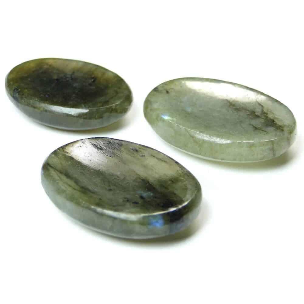 Labradorite Worry Stone Palm Stone Thumb Stone Nature's Crest WS0005 ₹269.00