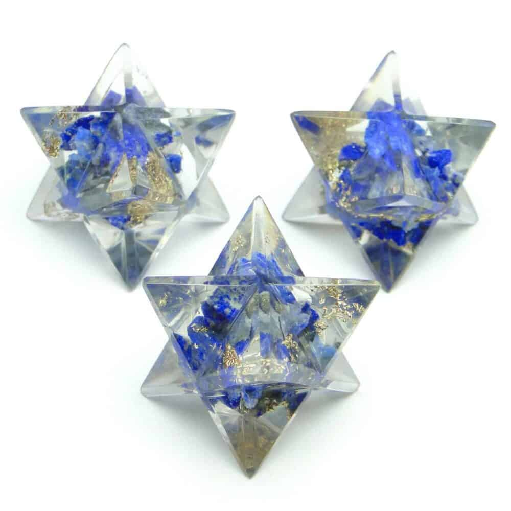 Lapis Lazuli Orgone 8 Point Merkaba Star Nature's Crest OMS008 ₹ 249.00