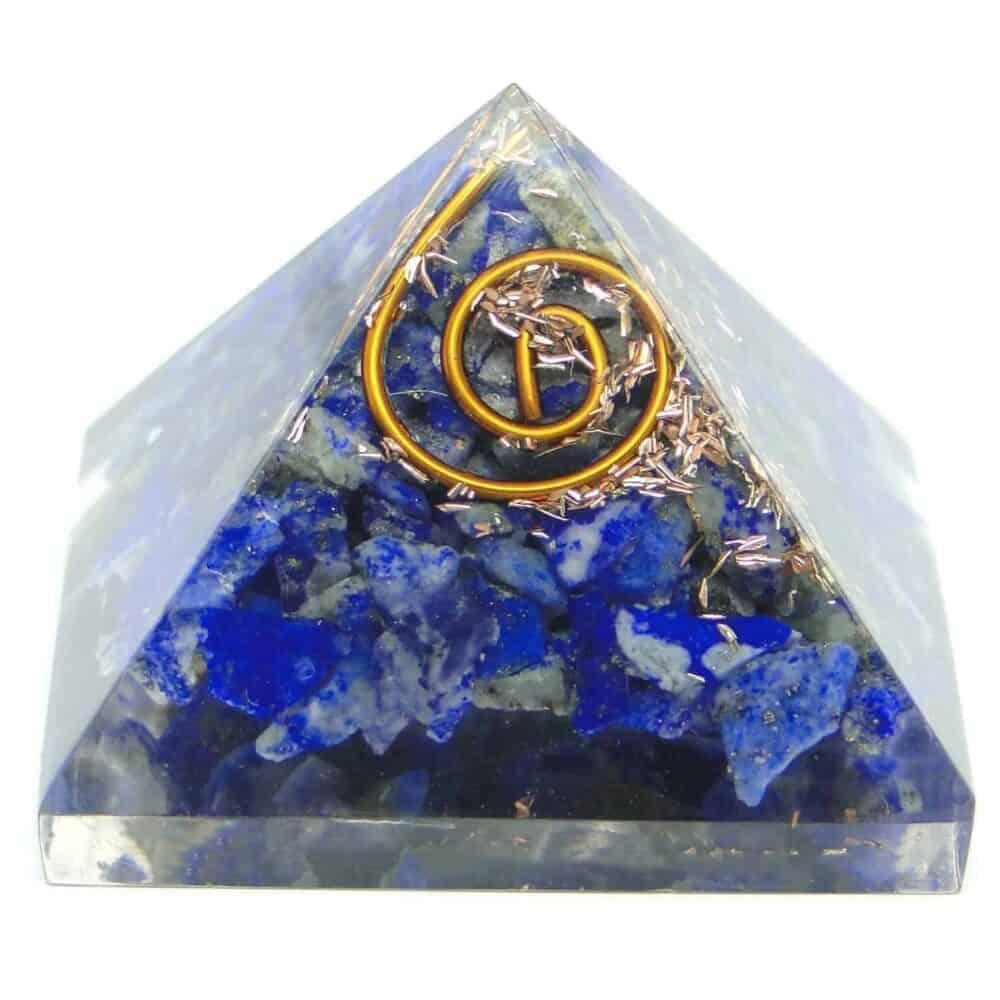 Lapis Lazuli Orgone Pyramid Nature's Crest OPY008 ₹299.00
