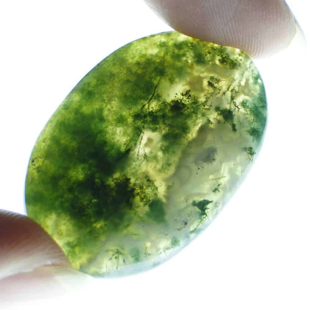 Green Moss Agate Oval Cabochon Nature's Crest CO0010 ₹249.00