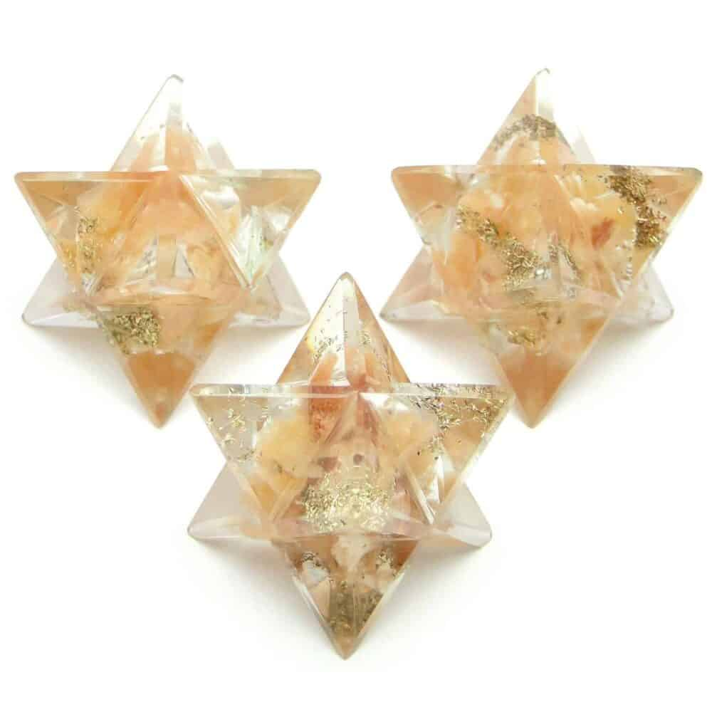 Orange Aventurine Orgone 8 Point Merkaba Star Nature's Crest OMS009 ₹249.00