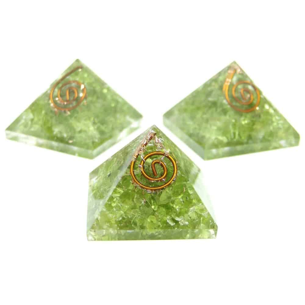 Peridot Orgone Pyramid Nature's Crest OPY010 ₹ 299.00