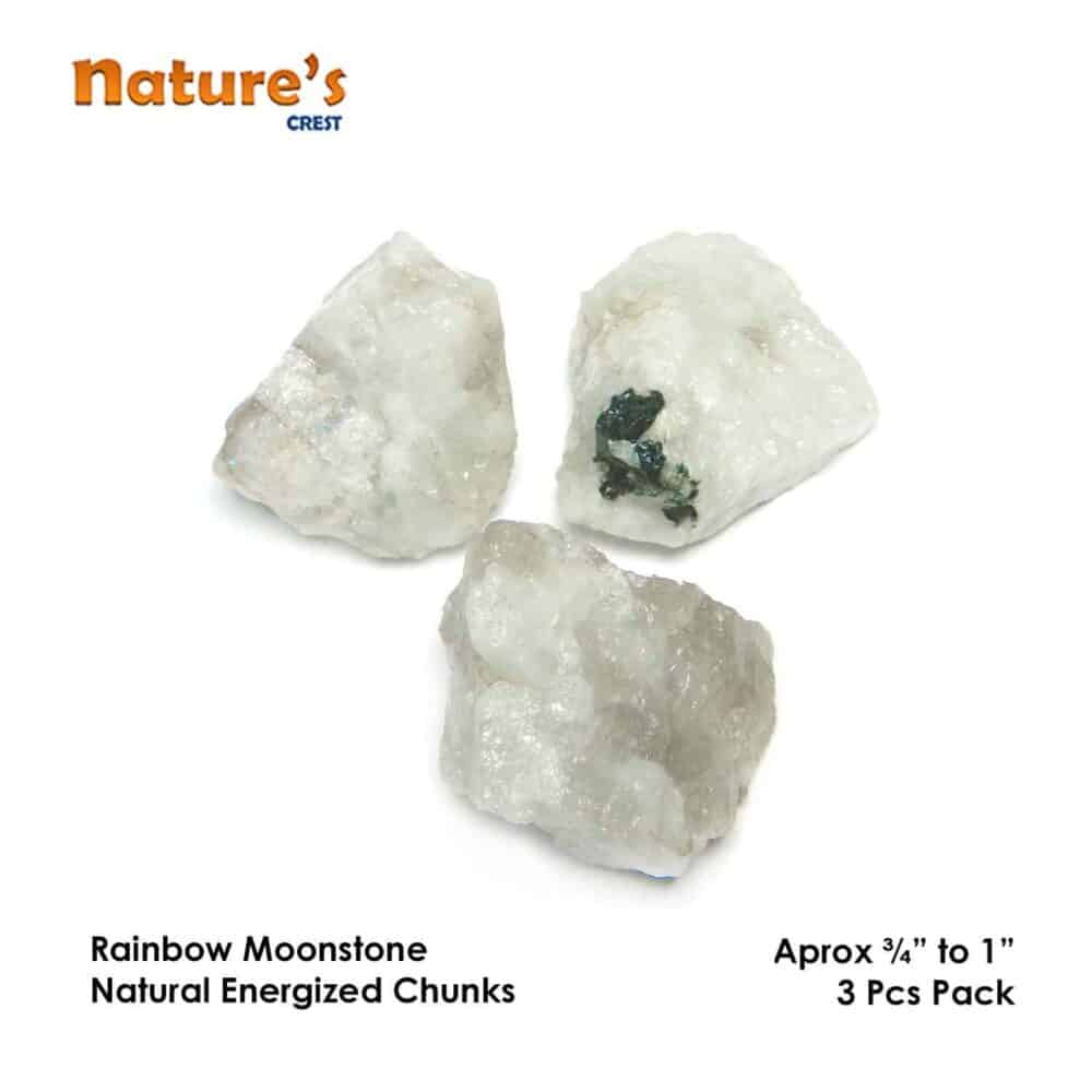 Rainbow Moonstone Natural Raw Rough Chunks Nature's Crest RC021 ₹ 199.00