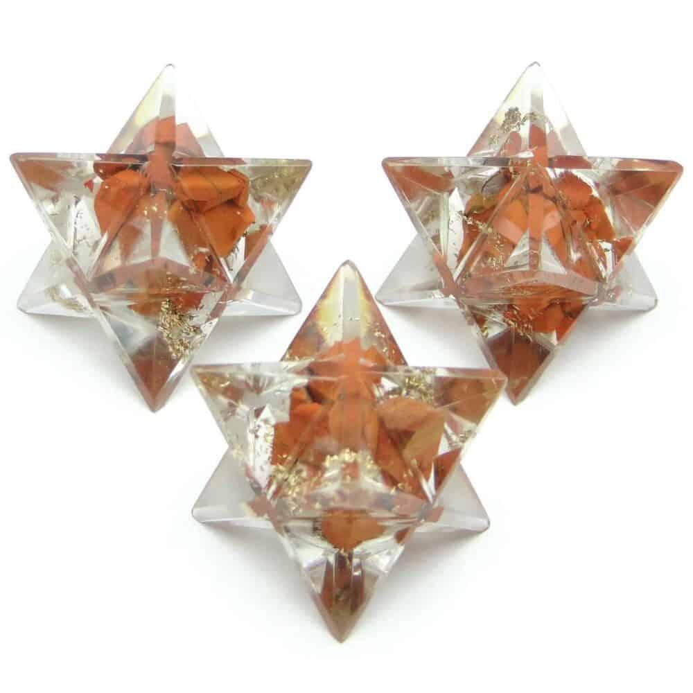 Red Jasper Orgone 8 Point Merkaba Star Nature's Crest OMS011 ₹249.00