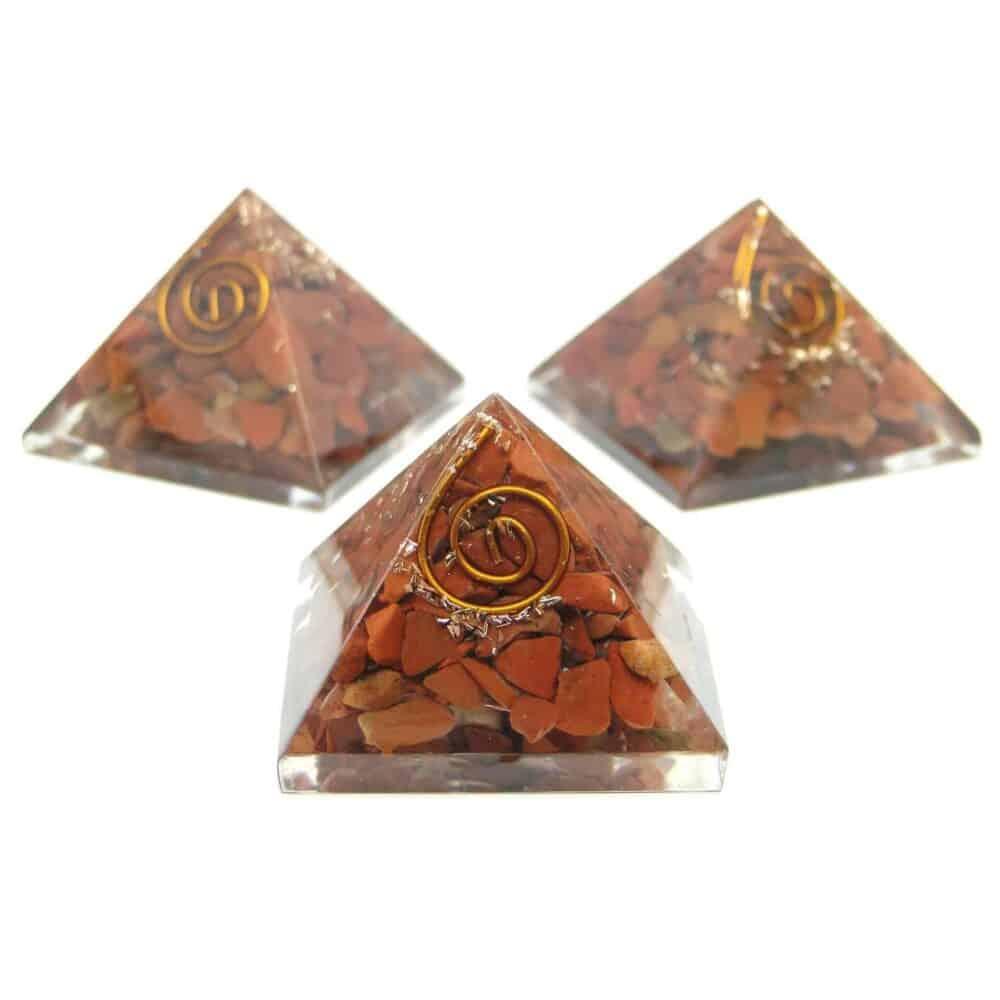 Red Jasper Orgone Pyramid Nature's Crest OPY011 ₹299.00