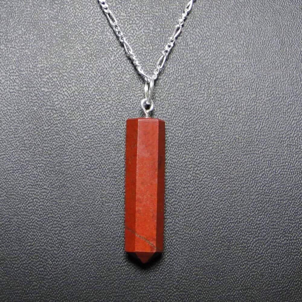 Red Jasper Pencil Pendant Nature's Crest PP013 ₹249.00