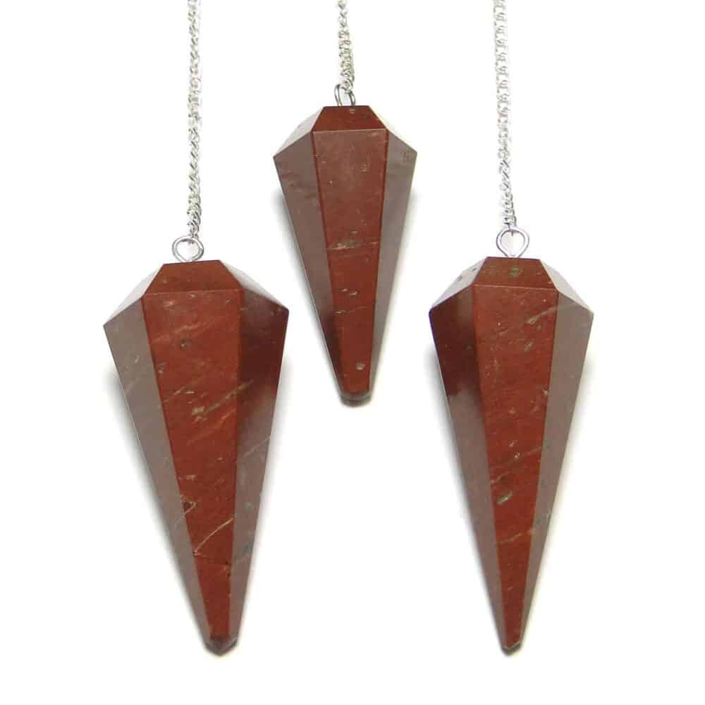Red Jasper Faceted Dowsing Pendulum Nature's Crest PD022 ₹249.00